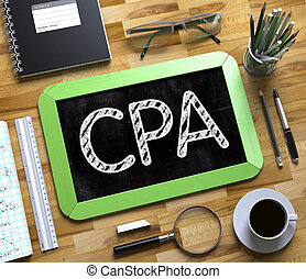 CPA - Text on Small Chalkboard. 3D. - CPA - Text on Small...