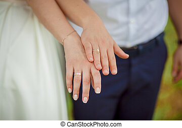 wedding hands newlyweds - wedding theme, holding hands...