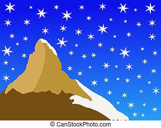 Matterhorn in winter - Matterhorn peak Switzerland in winter...