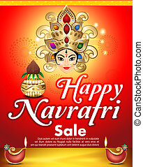 happy navratri sale background vector illustration