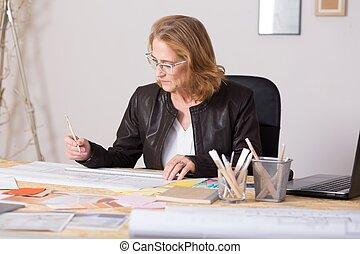 Mature female businesswoman