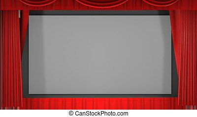 Closing Movie Curtain Video - A 1080p video of a theater...