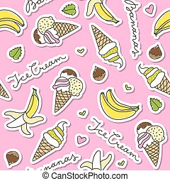 bananas and ice cream cones