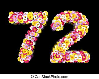 Flower Number Seventy-two. Floral Element of Colorful...