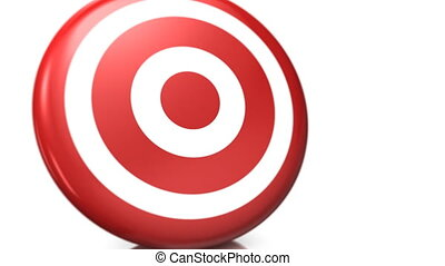 bull s eye - 3d animation of two arrows both hitting exactly...