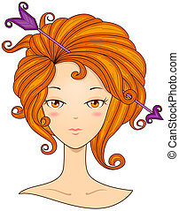 Sagittarius Girl with Clipping Path