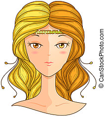 Gemini Girl with Clipping Path