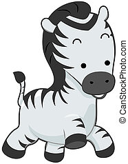 Cute Zebra with Clipping Path