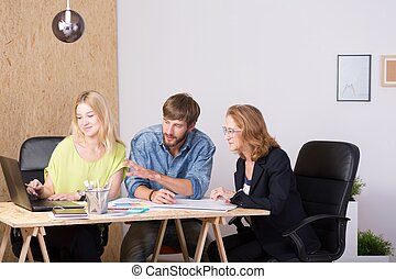 Interior designer team - Creative team of interior designers...