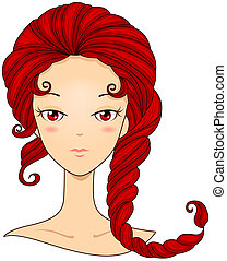 Scorpio Girl with Clipping Path