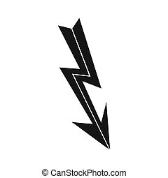 Arrow lightning icon, simple style - Arrow lightning icon in...