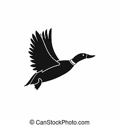 Duck icon, simple style - Duck icon in simple style isolated...