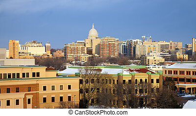 Winter in Madison - Winter in downtown Madison - seen from...