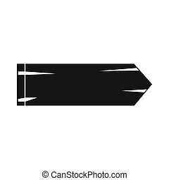Thick arrow icon, simple style - Thick arrow icon in simple...