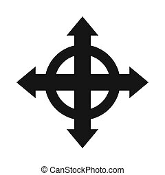 Arrows target icon, simple style - Arrows target icon in...