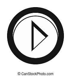Cursor to right in circle icon, simple style - Cursor to...