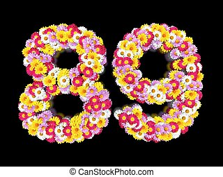Flower Number Eighty-nine. Floral Element of Colorful...