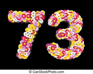 Flower Number Seventy-three. Floral Element of Colorful...