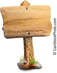 Single Blank Wooden Signpost - Single blank wooden signpost...