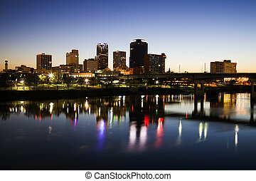 Blue hour in Little Rock, Arkansas