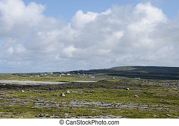 Inishmore panorama, Aran Islands, Ireland, Europe -...