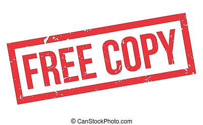 Free copy rubber stamp on white. Print, impress, overprint.