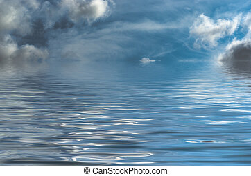Fantasy Style Seascape with Threatening Sky - Dreamy,...