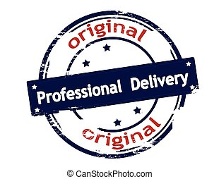 Professional delivery - Rubber stamp with text professional...