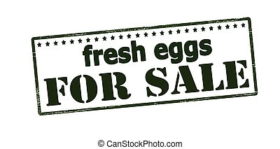 Fresh eggs for sale - Rubber stamp with text fresh eggs for...