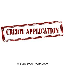 Credit application - Rubber stamp with text credit...