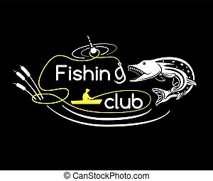Pike fishing club, vector illustration for your design,...