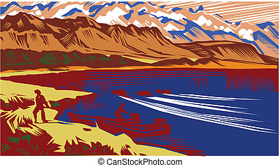 landscape - This image is a vector illustration and can be...