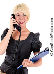 Attractice young businesswoman - Attractive young...