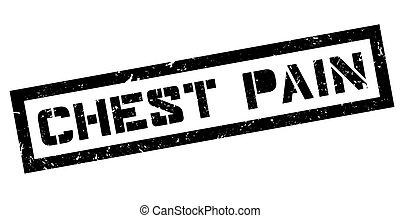 Chest Pain rubber stamp on white. Print, impress, overprint.
