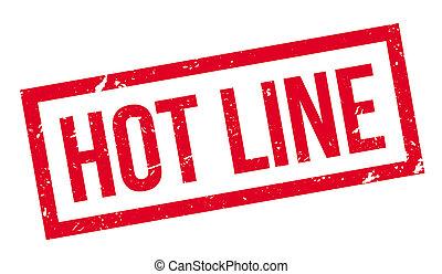 Hot Line rubber stamp - Hot line rubber stamp on white...