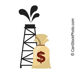 oil industry business icon vector illustration design