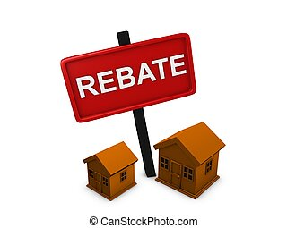 House rebate - 3d image, conceptual housing rebate