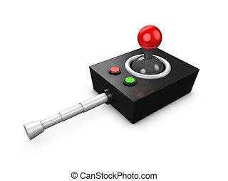 Remote control - 3d image, conceptual - retro remote control