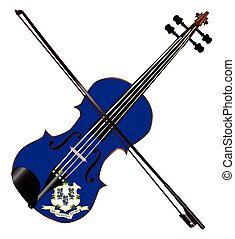 Connecticut State Fiddle - A typical violin with Connecticut...