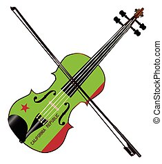 California State Fiddle - A typical violin with California...