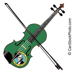 Washington State Fiddle - A typical violin with Washington...