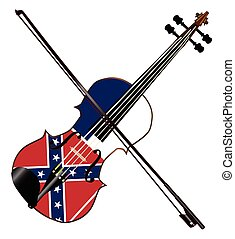 Mississippi Fiddle - A typical violin with Mississippi flag...