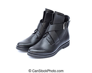 Pair of black female boots