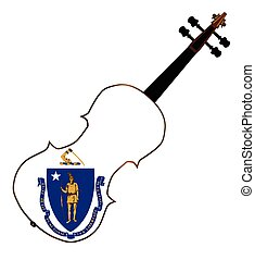Massachusetts State Fiddle - A typical violin with...