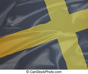 Silk Flag of Saint David - A silk flag of Saint David of...