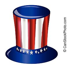 Uncle Sam Flag Hat