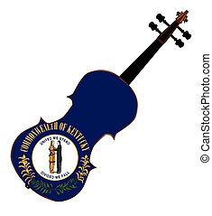 Kentucky State Fiddle - A typical violin with Kentucky state...