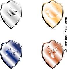Vector illustration shield