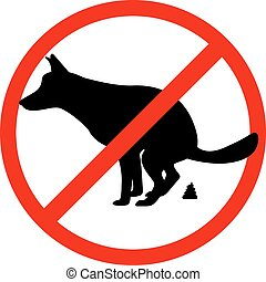 Prohibition sign paddock animals - Vector illustration of a...