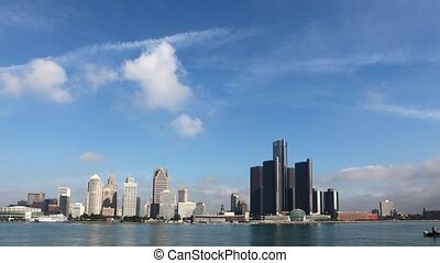 Timelapse of the Detroit with boats - A Timelapse of the...